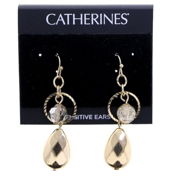 Catherines Jewelry - 3/$20 Catherines gold dangle earrings with bead